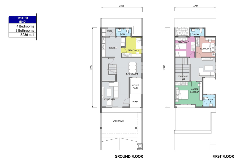PR1MA Homes @ Simpang Empat 2 Type B3 Floor Plan