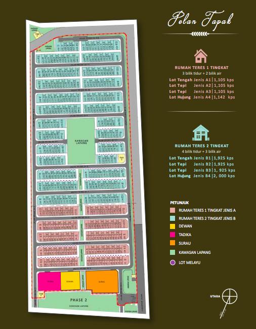 Site Plan of PR1MA Homes @ Simpang Empat 2