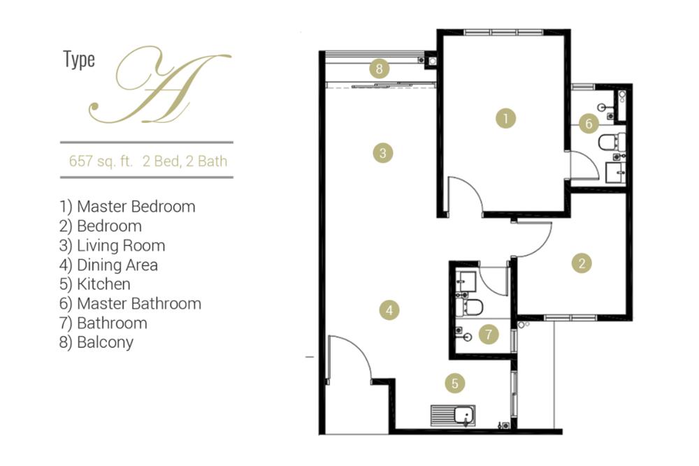 Far East Residence Type A Floor Plan
