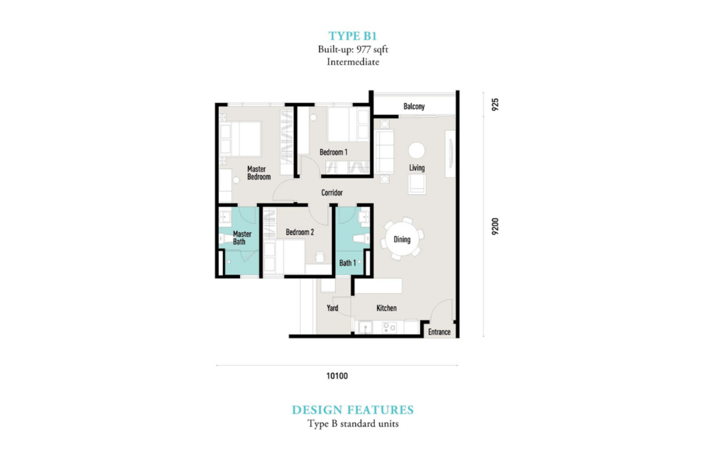 E'island Lake Haven Residence Type B1 Floor Plan