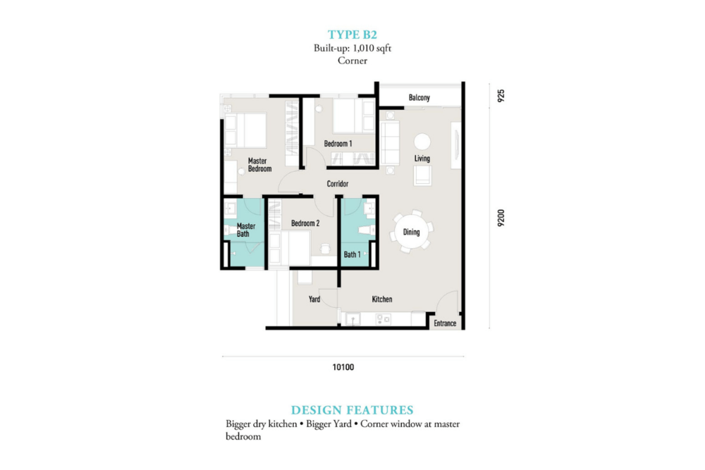 E'island Lake Haven Residence Type B2 Floor Plan