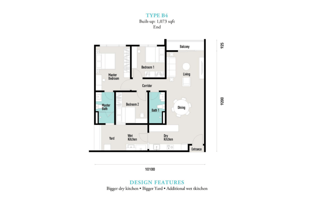 E'island Lake Haven Residence Type B4 Floor Plan
