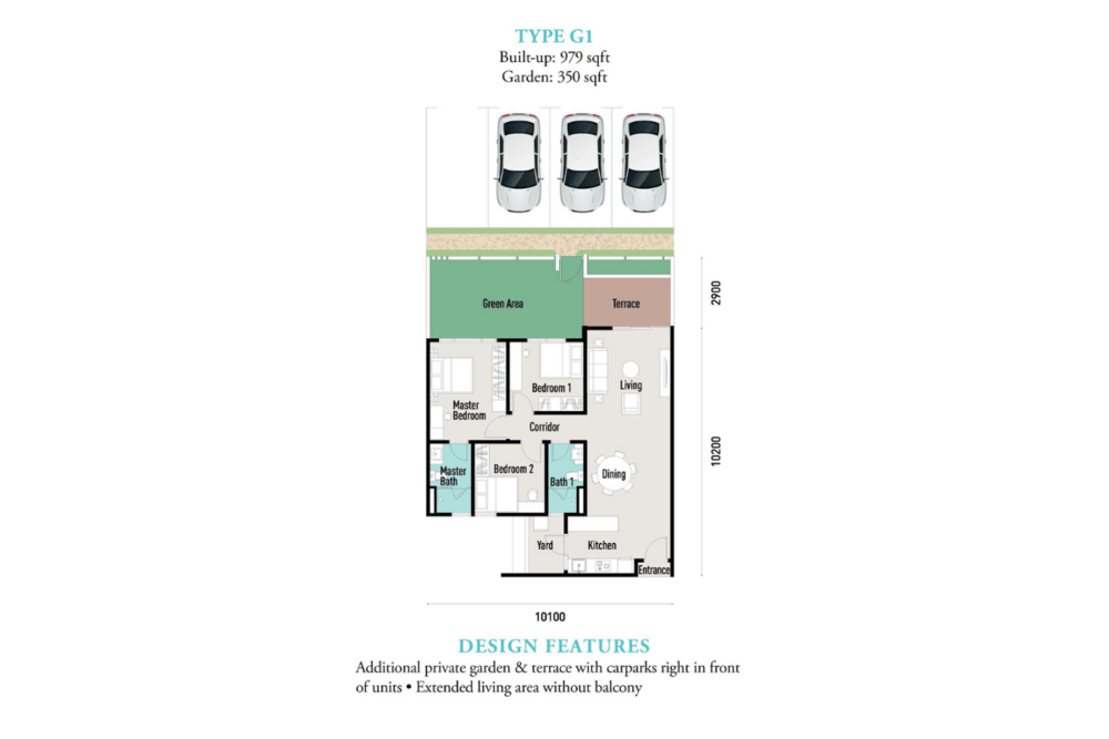 E'island Lake Haven Residence Type G1 Floor Plan