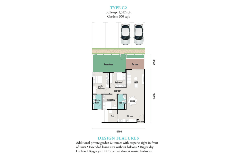 E'island Lake Haven Residence Type G2 Floor Plan
