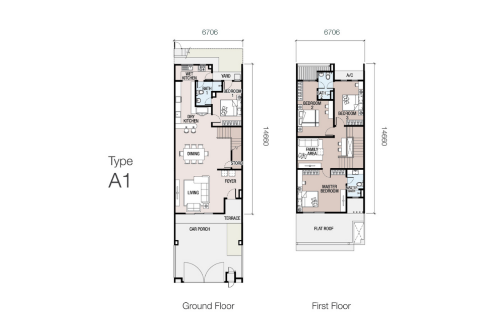 Eugenia 1 Type A1 Floor Plan