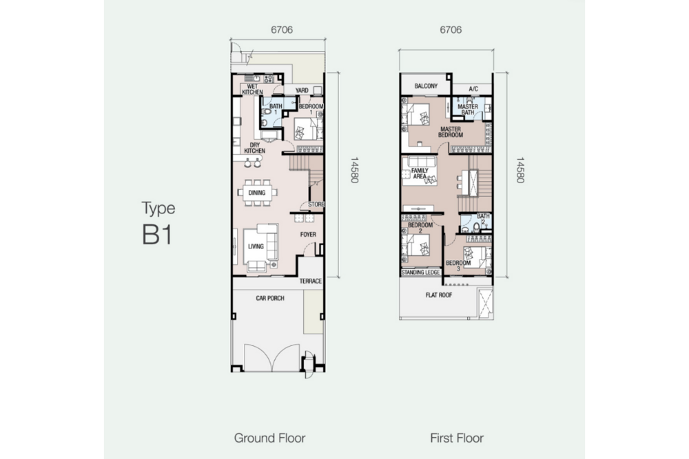 Eugenia 1 Type B1 Floor Plan
