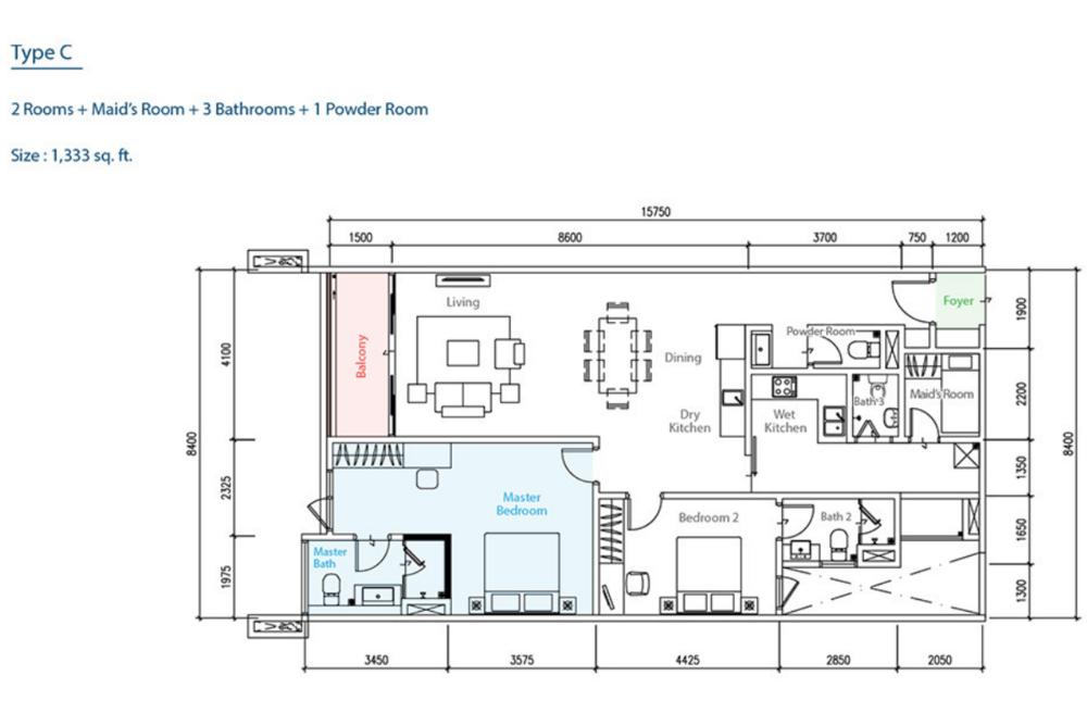 The Como Type C Floor Plan