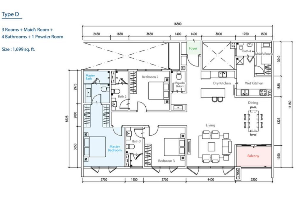 The Como Type D Floor Plan