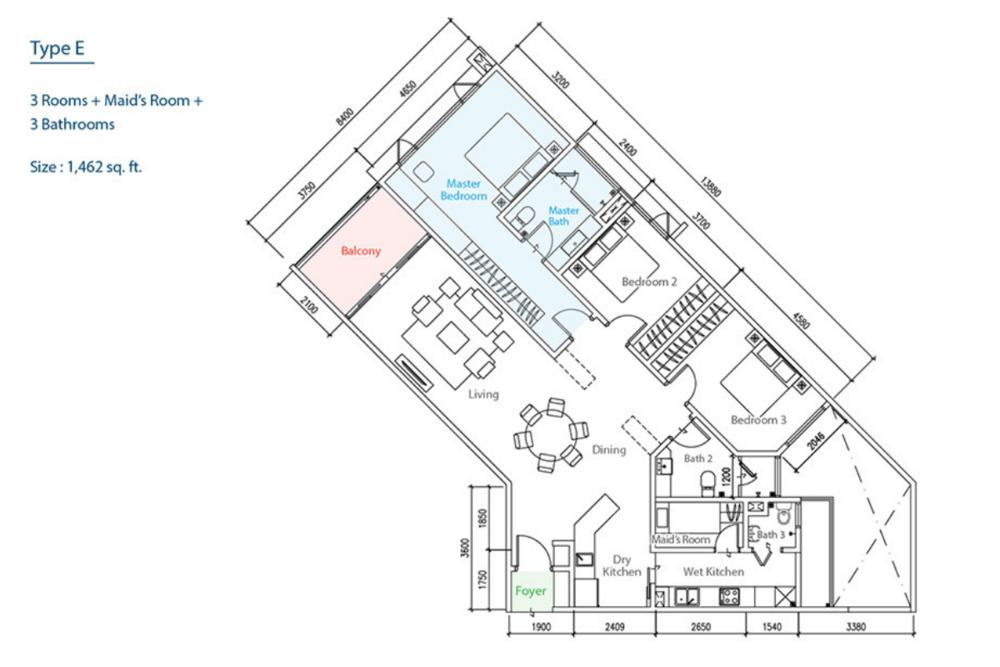 The Como Type E Floor Plan