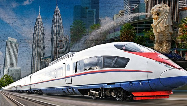 Image result for high-speed rail link with Singapore