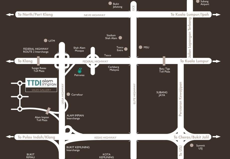 Olivina residences map