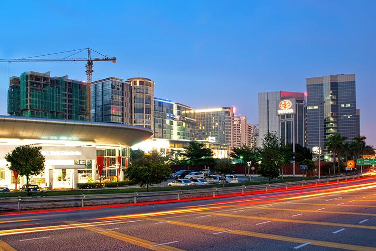 Subang jaya at dusk