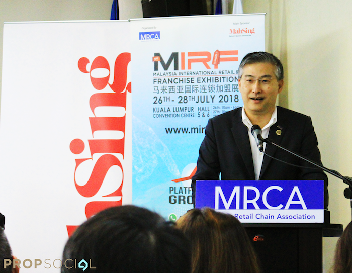 Malaysia retail and franchise exhibition mirf raymond woo propsocial