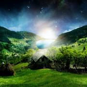 Green landscape wallpaper hd small