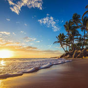 Landscape of paradise tropical island beach sunrise shot valentin valkov small