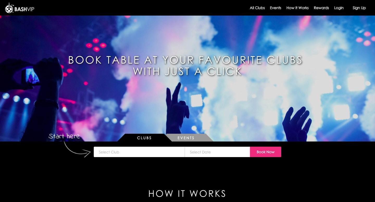 Bashvip   book tables at clubs with a click