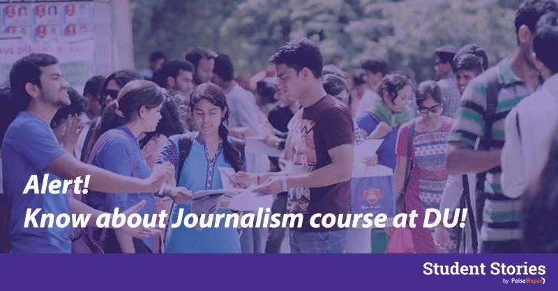 delhi university journalism course admissions du
