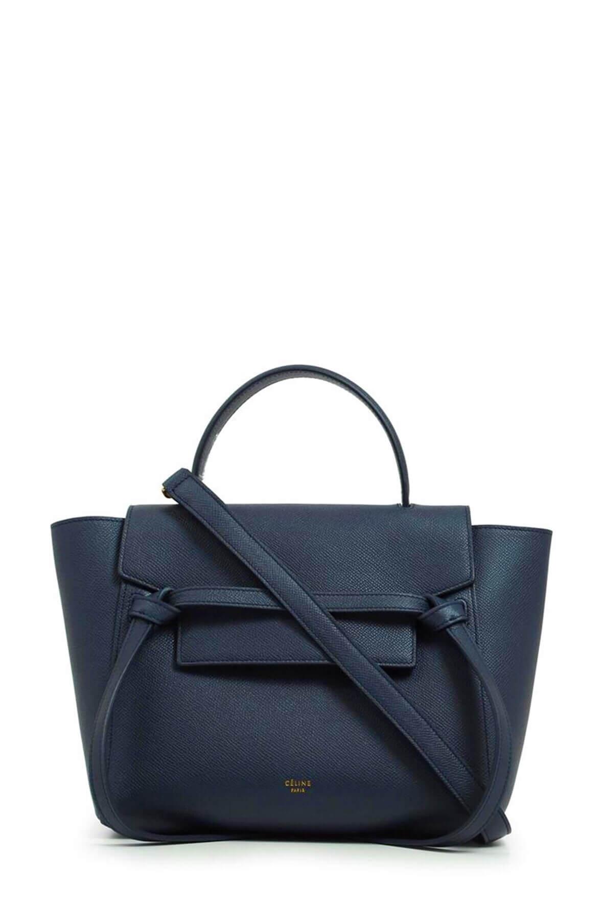 Micro Belt Bag Dark Navy By Celine Style Theory Bags