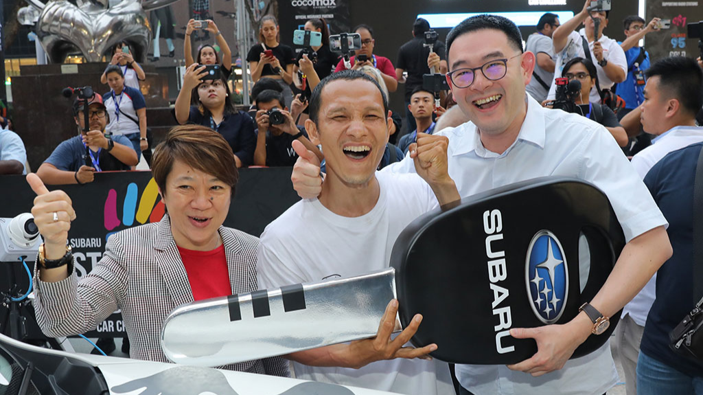 Second regional winner to win the grand prize in Last Palm Standing - Mediacorp Subaru Car Challenge