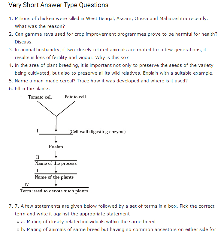 Important Questions Class 12 Biology Chapter 9 Strategies Enhancement Food Production Part 1