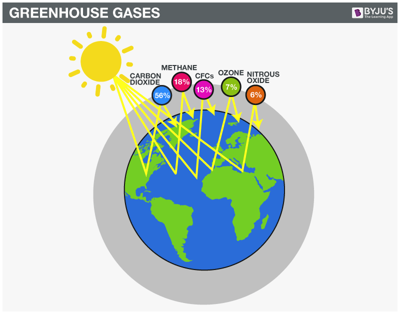 the green house effect and its Collectively, these gases are referred to as greenhouse gases (ghgs) the greenhouse effect gets its name from the process that actually occurs in a.