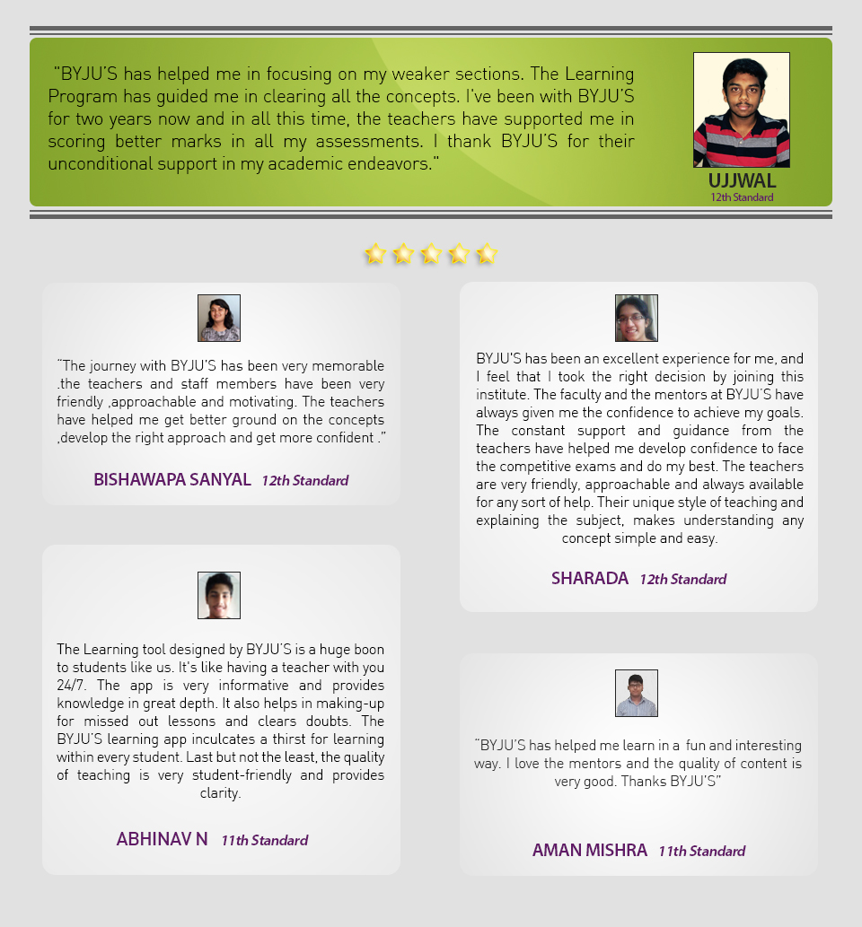 First Testimonials Class 11-12_Re
