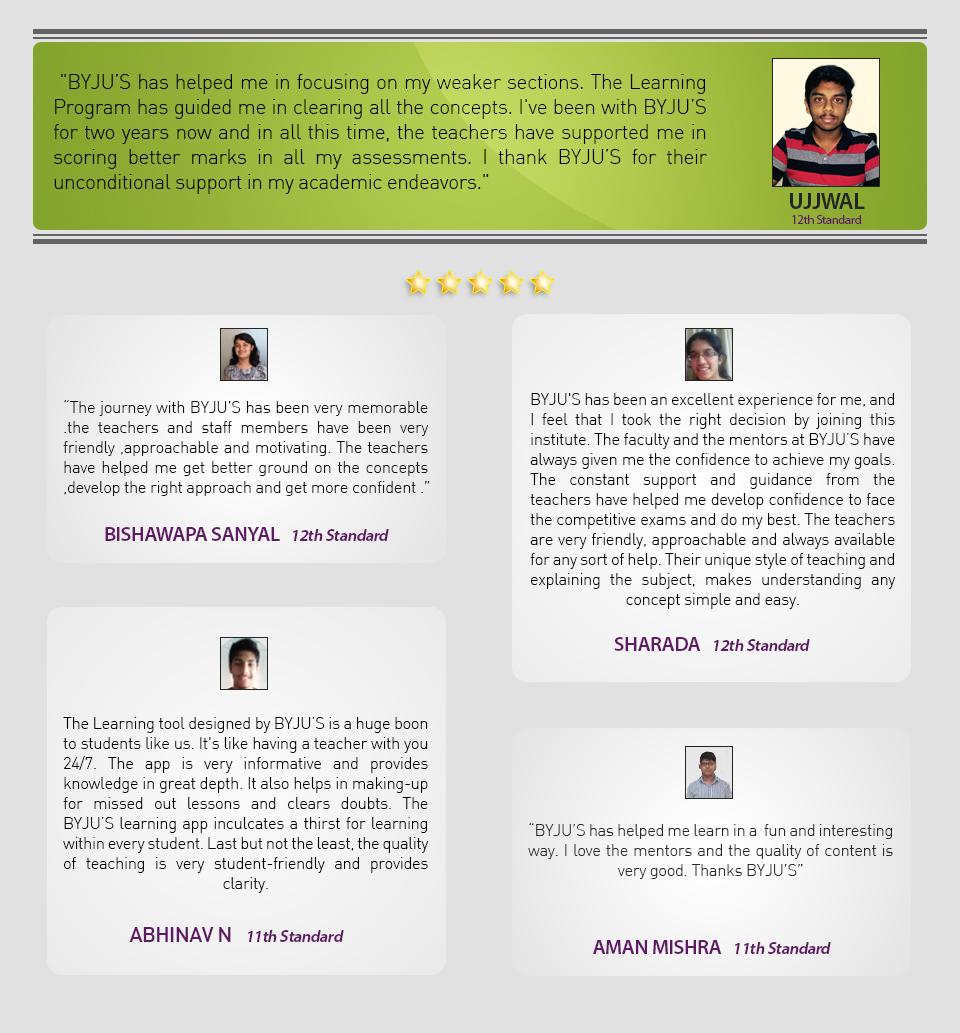 First Testimonials Class 11-12_Re