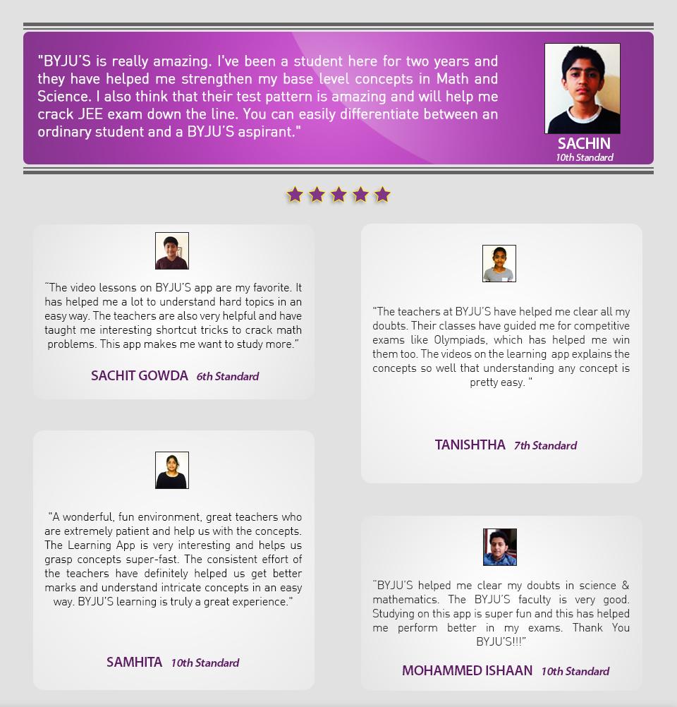 Class 6-10 1st testimonials