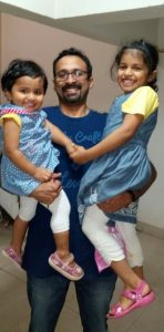 Pravin with his daughters