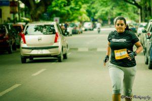 An active marathon participant