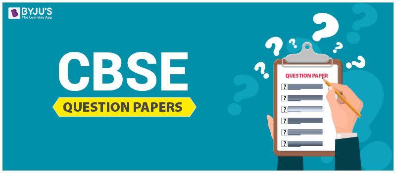 CBSE Question Paper