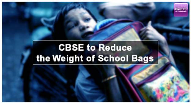 CBSE-school CBSE To Reduce The Weight Of Schoolbags For The Classes I and II