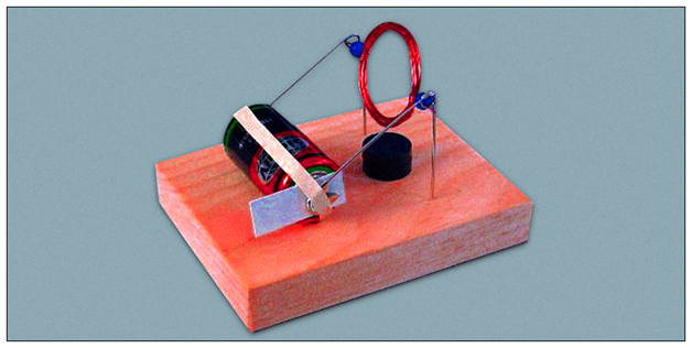 Simple machines simple electric motor physics projects for Simple electric motor science project