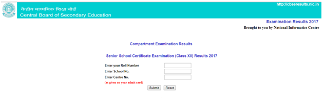 cbse CBSE Class XII compartment Results 2017 Released