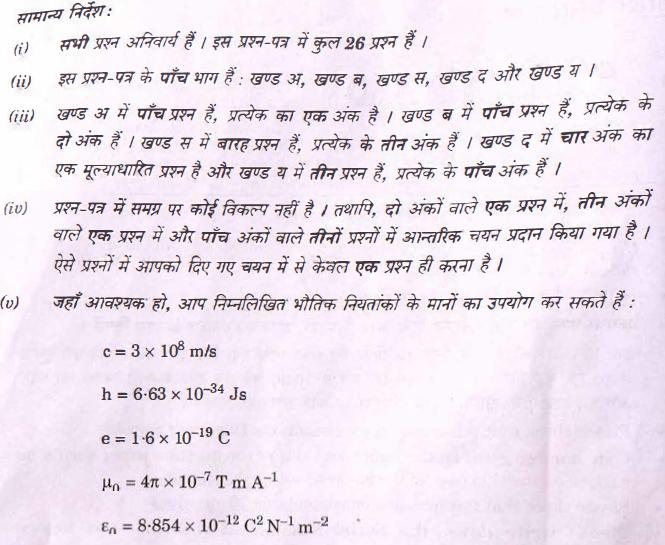 2 CBSE Class 12 Physics Exam 2018: Question Paper Analysis