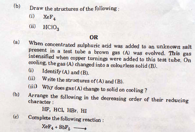 chemsitry-26 CBSE Class 12 Chemistry Exam 2018: Question Paper Analysis