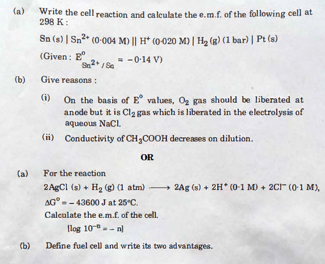 chemsitry-28 CBSE Class 12 Chemistry Exam 2018: Question Paper Analysis