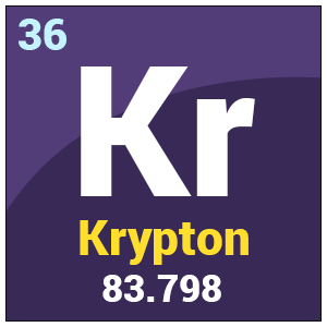 Krypton Element Periodic Table Krypton (Kr) | Chemica...