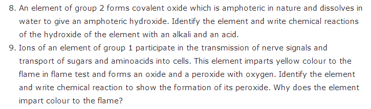 important questions class 11 chemistry chapter 10 s block elements alkali alkaline earth metals 3
