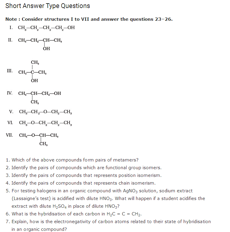 important questions class 11 chemistry chapter 12 organic chemistry basic principles technique 1