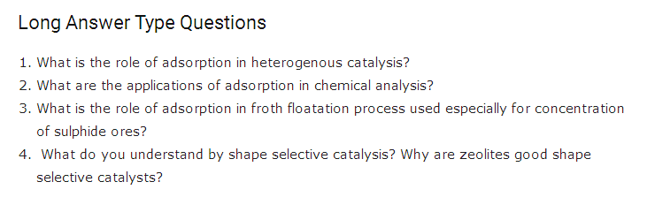 Important questions for class 12 Chemistry Chapter 5 Surface Chemistry 5