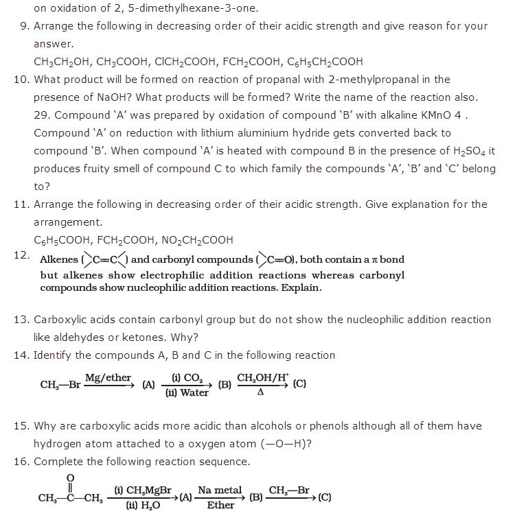 important questions class 12 chemistry chapter 12 aldehydes ketones carboxylic acids 2