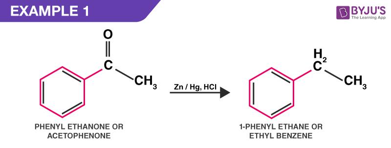 Clemmensen reduction example 1