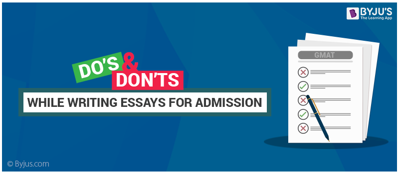 dos and don ts while writing mba admission essays tips to write  dos and don ts while writing essays for