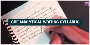 GRE Analytical Writing Syllabus