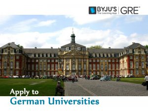 How to apply to German Universities