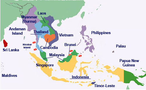 Mainland South East Asia