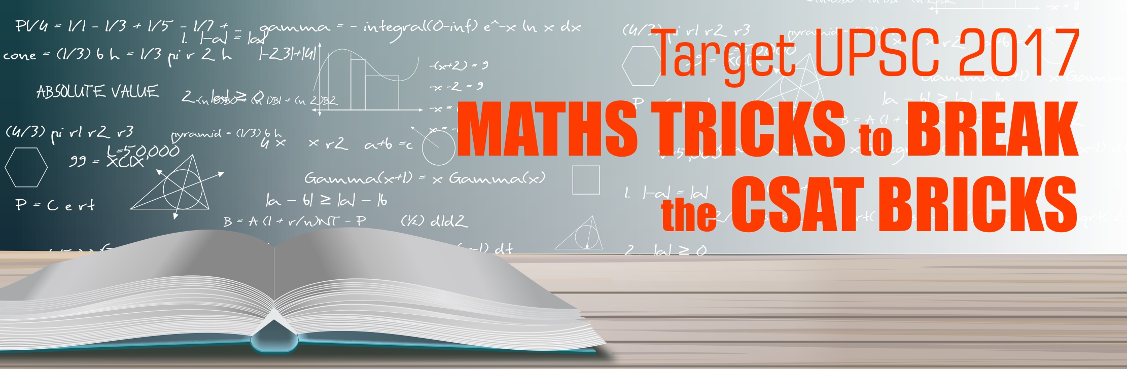 Target UPSC 2017 Maths Tricks to Break the CSAT Bricks Recent ...