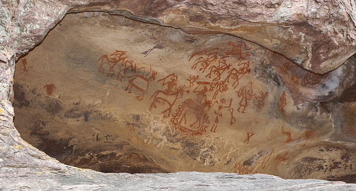 Upper Palaeolithic age-Paintings at Bhimbetka