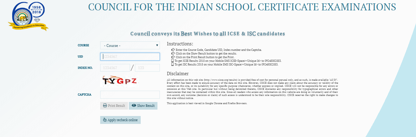ISC and ICSE Result 2018